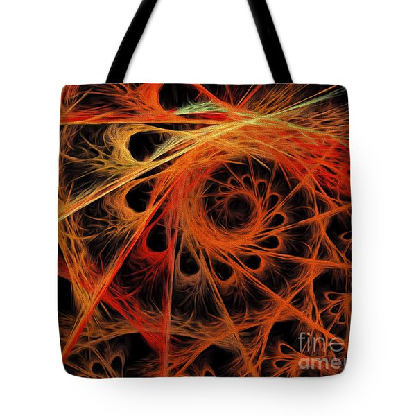 Tote Bag featuring the digital art Spiral Abstract by Andee Design