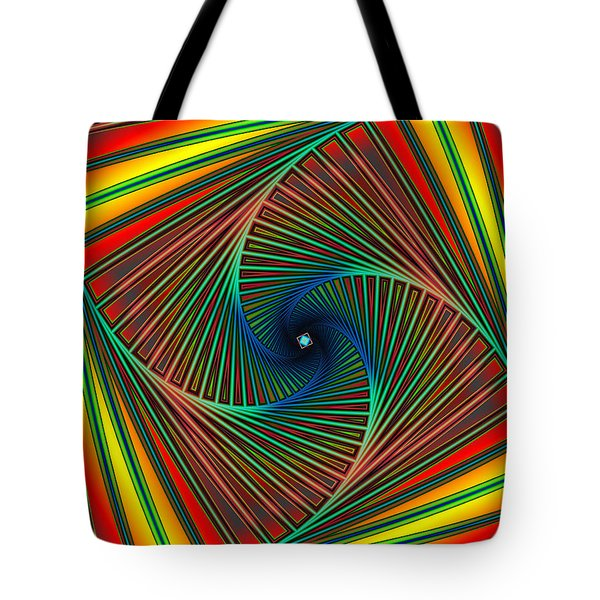 Tote Bag featuring the digital art Spiral Candy by Mario Carini