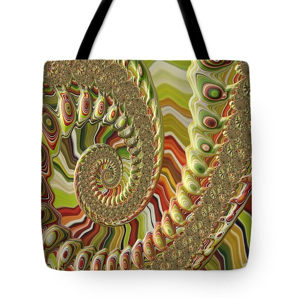 Tote Bag featuring the photograph Spiral Fractal by Bonnie Bruno