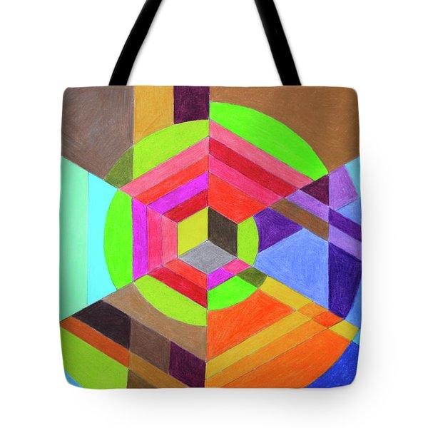 Spiral Hex Tote Bag