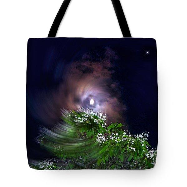 Spiral Lilac Moon Tote Bag