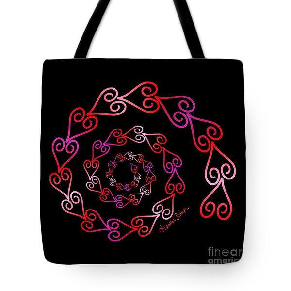 Spiral Of Hearts Tote Bag