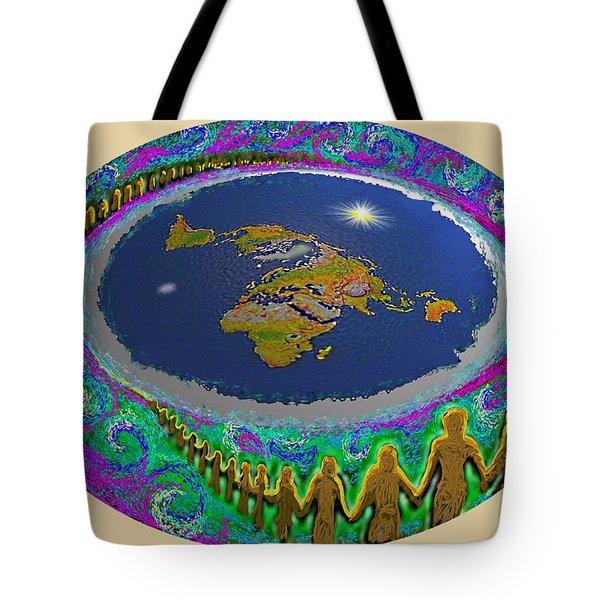 Spiral Of Souls Flat Earth Tote Bag