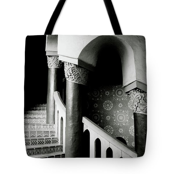 Spiral Stairs- Black And White Photo By Linda Woods Tote Bag by Linda Woods