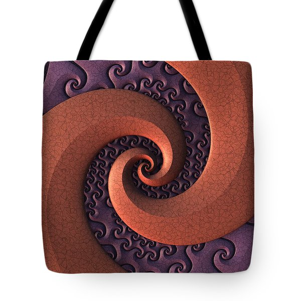 Tote Bag featuring the digital art Spiralicious by Lyle Hatch