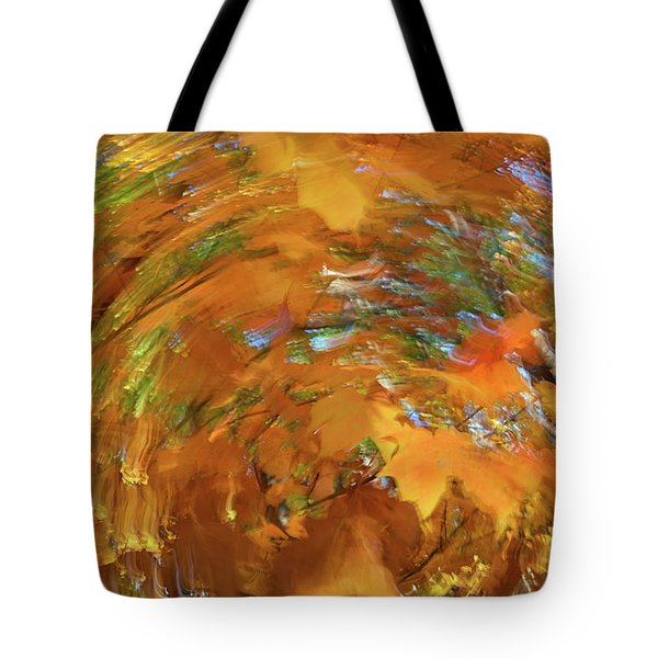Spiraling Autumn Tote Bag