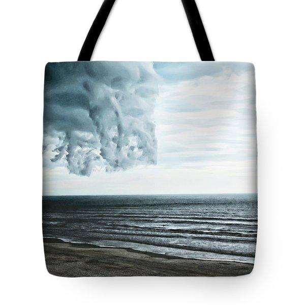 Spiraling Storm Clouds Over Daytona Beach, Florida Tote Bag