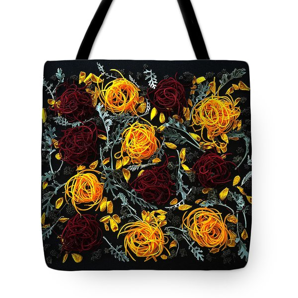 Spiralized Beets And Squash Tote Bag