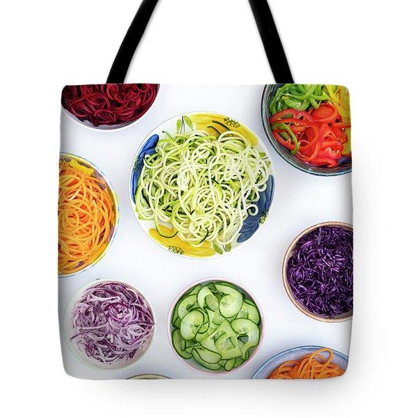 Spiralized Vegetables Pattern Tote Bag