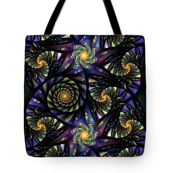 Spirals Of The Night Tote Bag