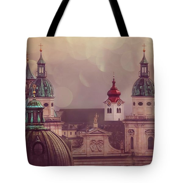 Spires Of Salzburg  Tote Bag