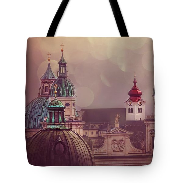 Spires Of Salzburg  Tote Bag