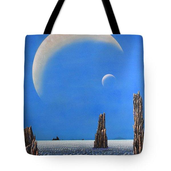 Spires Of Triton Tote Bag