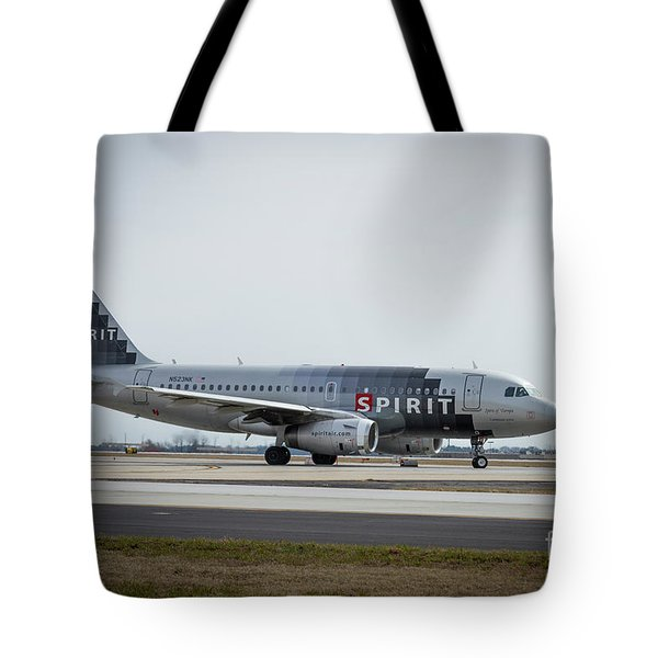Tote Bag featuring the photograph Spirit Airlines A319 Airbus N523nk Airplane Art by Reid Callaway