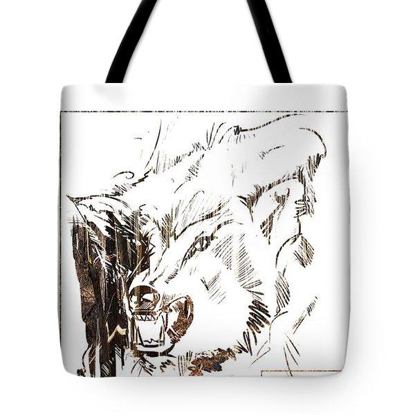 Spirit Animal . Wolf Tote Bag
