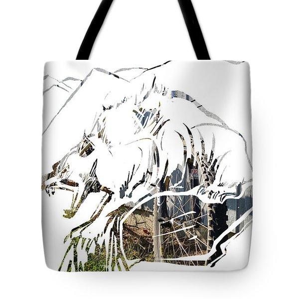 Spirit Animal . Wolverine Tote Bag