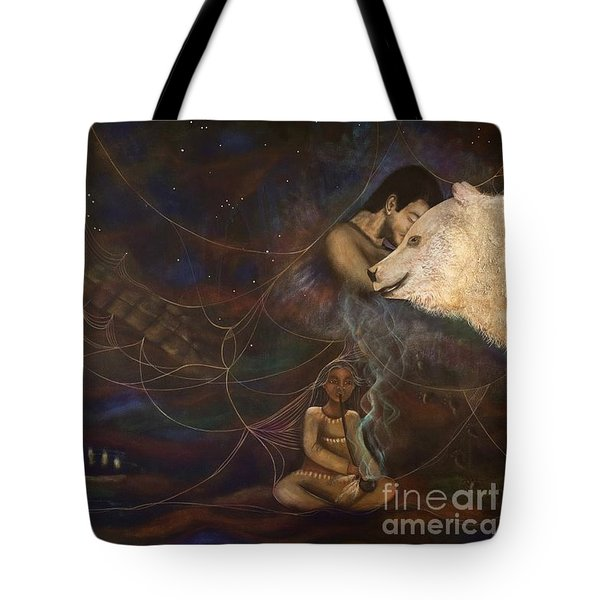 Spirit Bear Tote Bag by Deborha Kerr