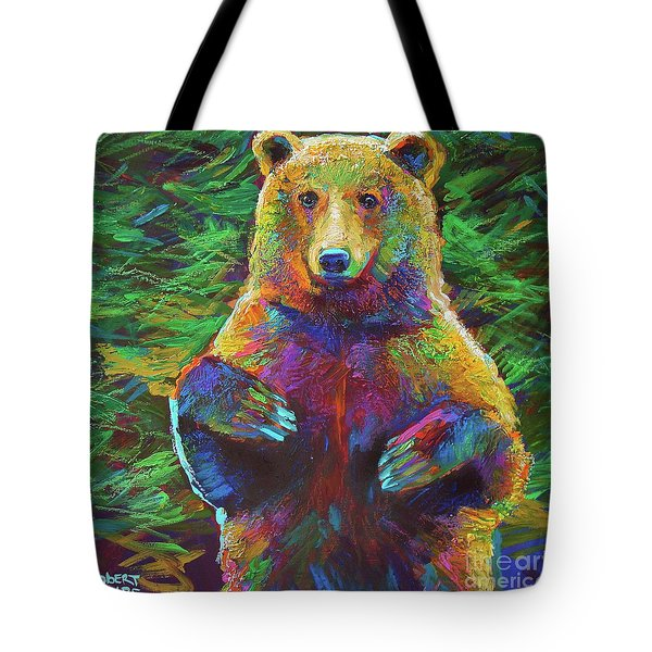 Tote Bag featuring the painting Spirit Bear by Robert Phelps