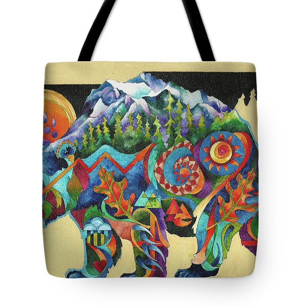 Spirit Bear Totem Tote Bag