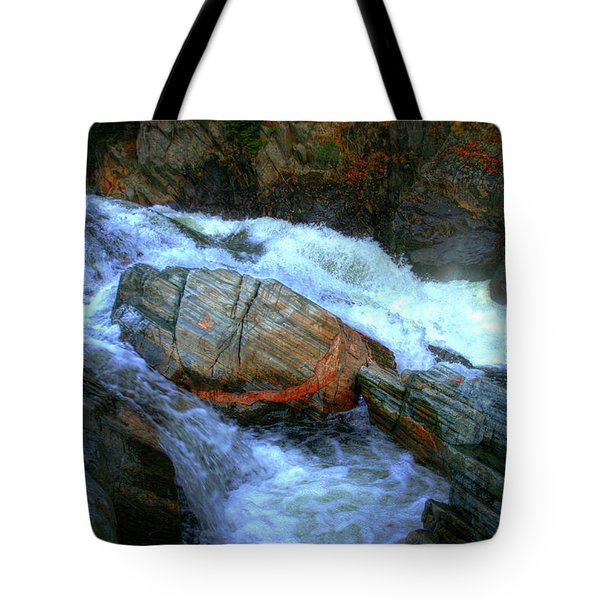 Spirit Boulder At Livermore Falls Tote Bag