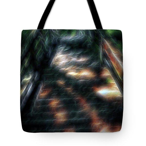 Spirit Bridge Tote Bag by William Horden