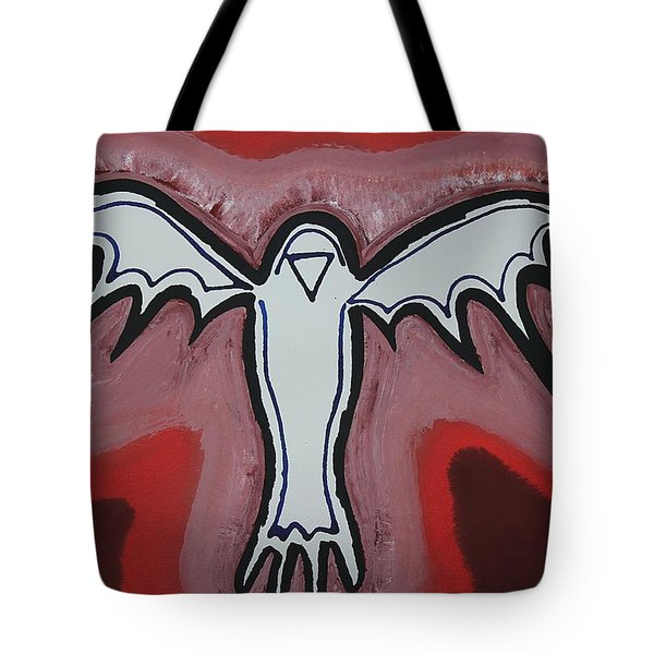 Spirit Crow Original Painting Tote Bag by Sol Luckman