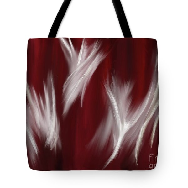 Tote Bag featuring the painting Spirit Dance by Roxy Riou