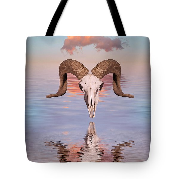 Spirit Goat Tote Bag by Jerry McElroy