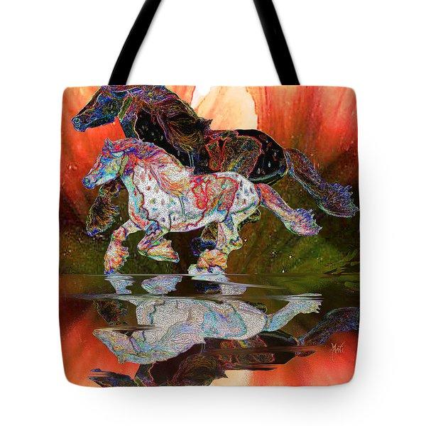 Spirit Horse II Leopard Gypsy Vanner Tote Bag