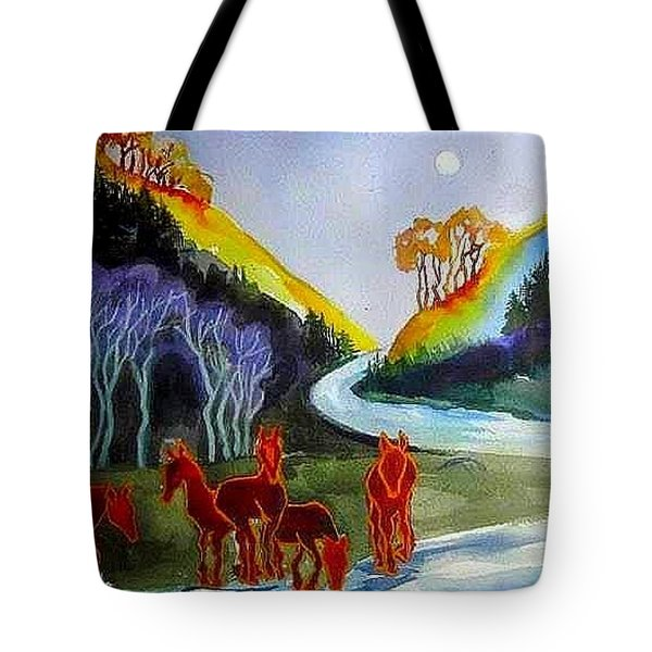Spirit Horses Tote Bag