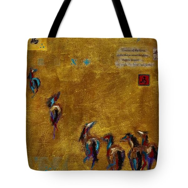 Spirit Horses Tote Bag by Frances Marino