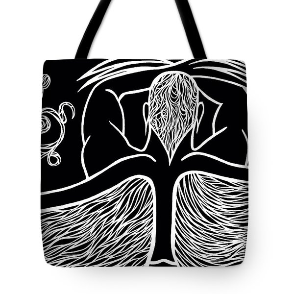 Tote Bag featuring the drawing Spirit II by Jamie Lynn
