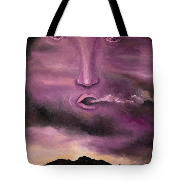 Spirit In The Clouds Tote Bag by Leah Saulnier The Painting Maniac