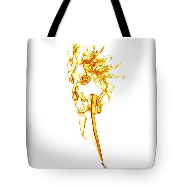 Tote Bag featuring the photograph Ghostly Smoke - Orange by Nick Bywater