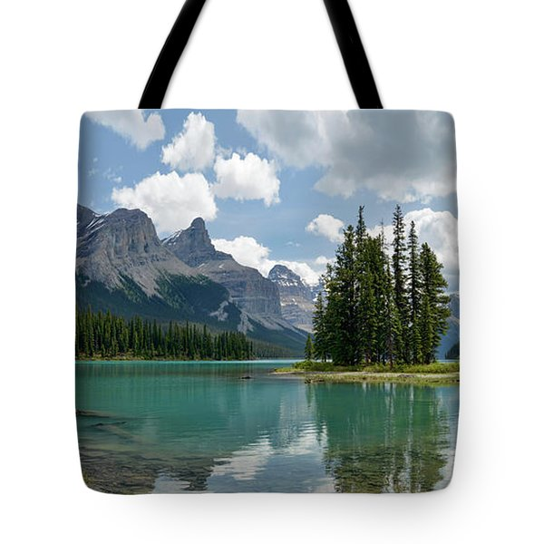 Spirit Island And The Hall Of The Gods Tote Bag by Sebastien Coursol