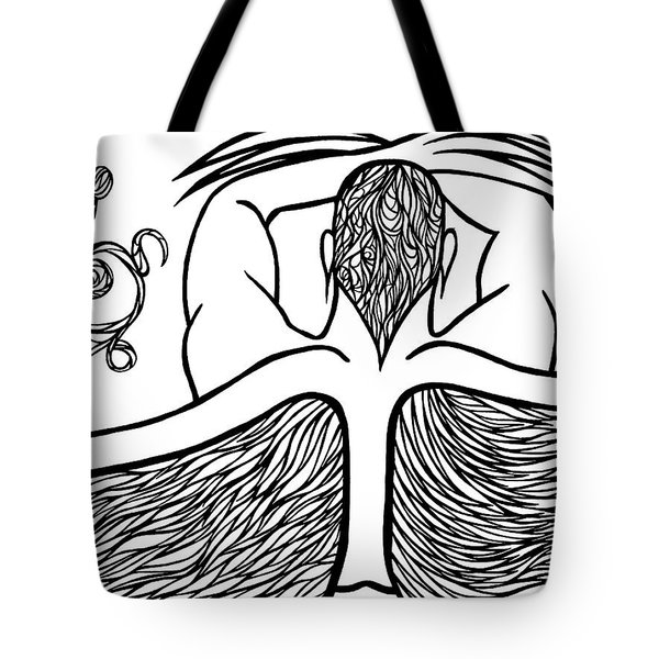 Tote Bag featuring the drawing Spirit by Jamie Lynn