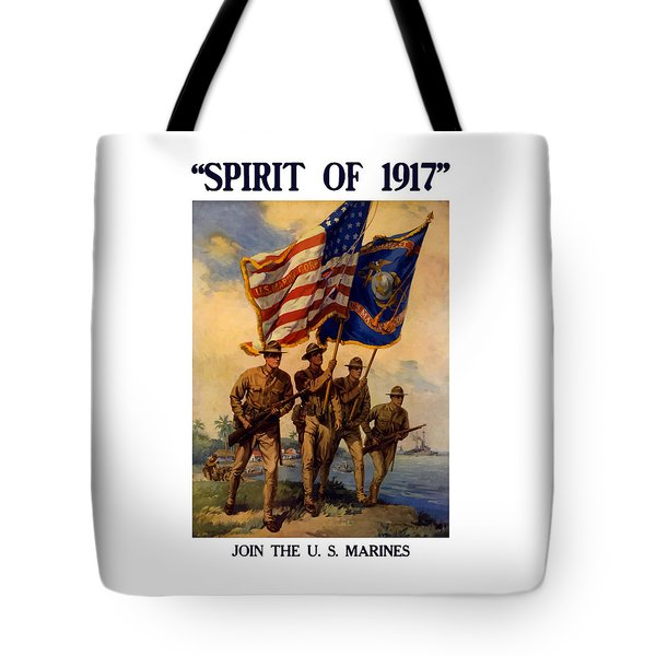 Spirit Of 1917 - Join The Us Marines  Tote Bag by War Is Hell Store
