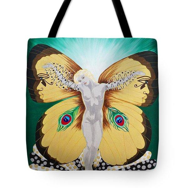 Blaa Kattproduksjoner             Spirit Of Aurelias Flight Tote Bag