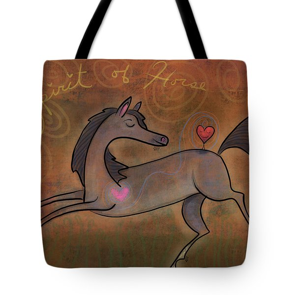 Tote Bag featuring the digital art Spirit Of Horse by Marti McGinnis