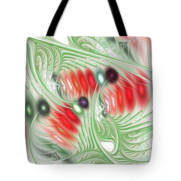 Tote Bag featuring the digital art Spirit Of Spring by Anastasiya Malakhova