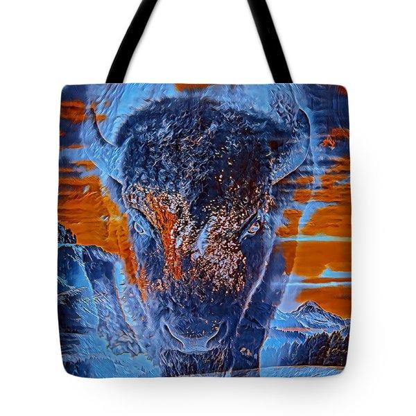 Spirit Of The Buffalo Tote Bag