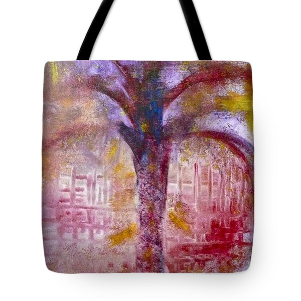 Tote Bag featuring the painting Spirit Tree by Claire Bull