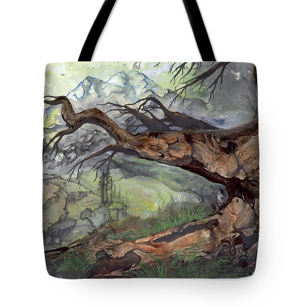 Tote Bag featuring the painting Spirit Tree by Sherry Shipley