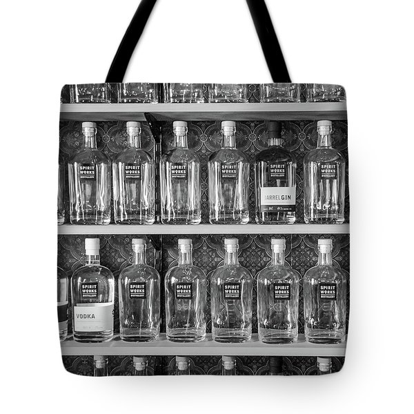 Tote Bag featuring the photograph Spirit World Bottles by T Brian Jones