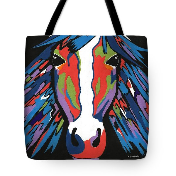Spirited Horse Tote Bag