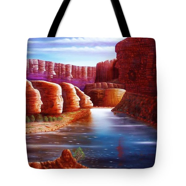 Spirits Of The River Tote Bag by Gene Gregory