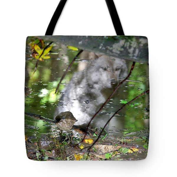 Spirits Of Wolves Tote Bag by Scott Mahon