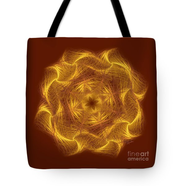 Spiritual Art - Wheel Of Dharma By Rgiada Tote Bag by Giada Rossi