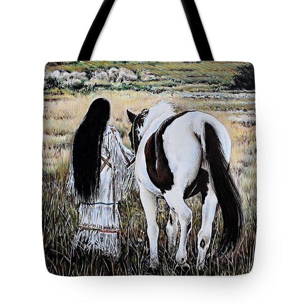 Spiritual Sunset Stroll Tote Bag