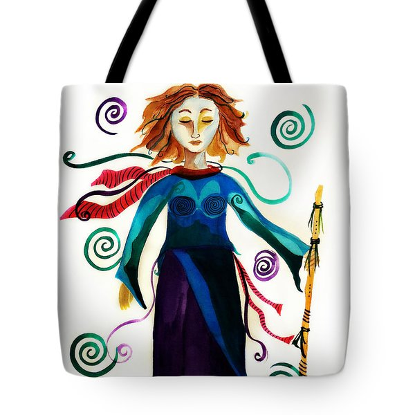 Spiritual Warrior Tote Bag by Jean Fry